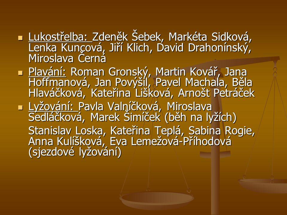Lukostřelba: Zdeněk Šebek, Markéta Sidková, Lenka Kuncová, Jiří Klich, David Drahonínský, Miroslava Černá