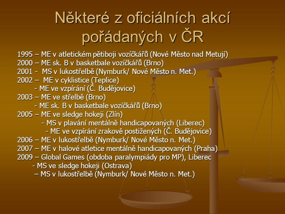 Některé z oficiálních akcí pořádaných v ČR