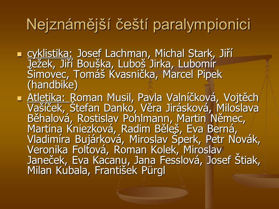 Nejznámější čeští paralympionici