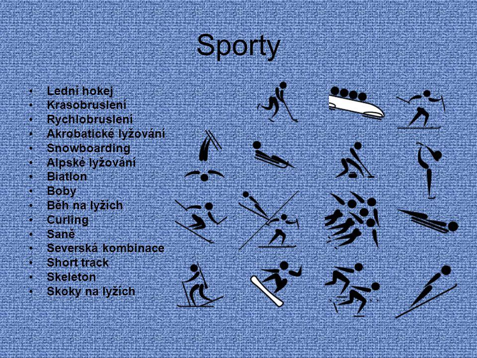 Sporty Lední hokej Krasobruslení Rychlobruslení Akrobatické lyžování