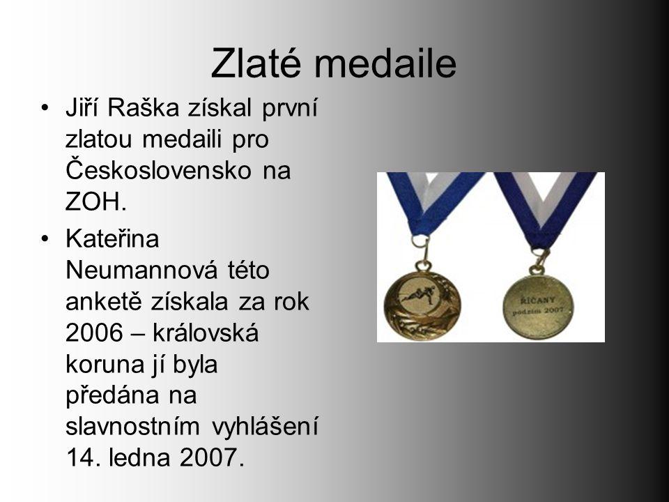 Zlaté medaile Jiří Raška získal první zlatou medaili pro Československo na ZOH.