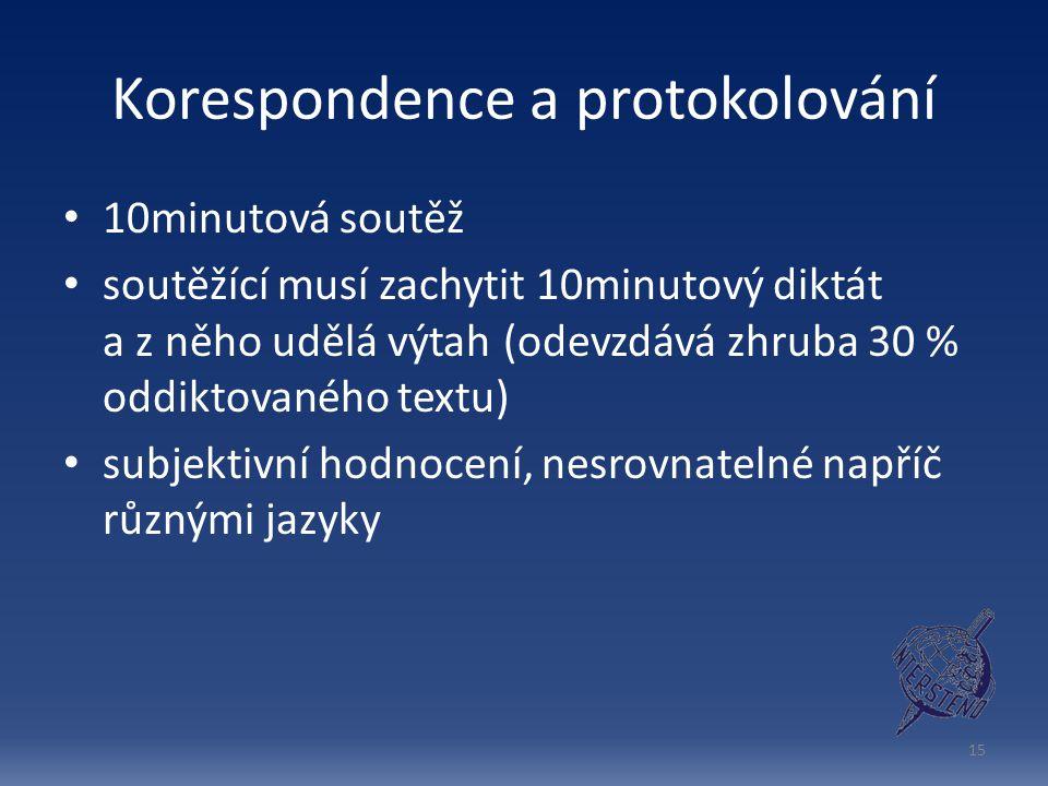 Korespondence a protokolování