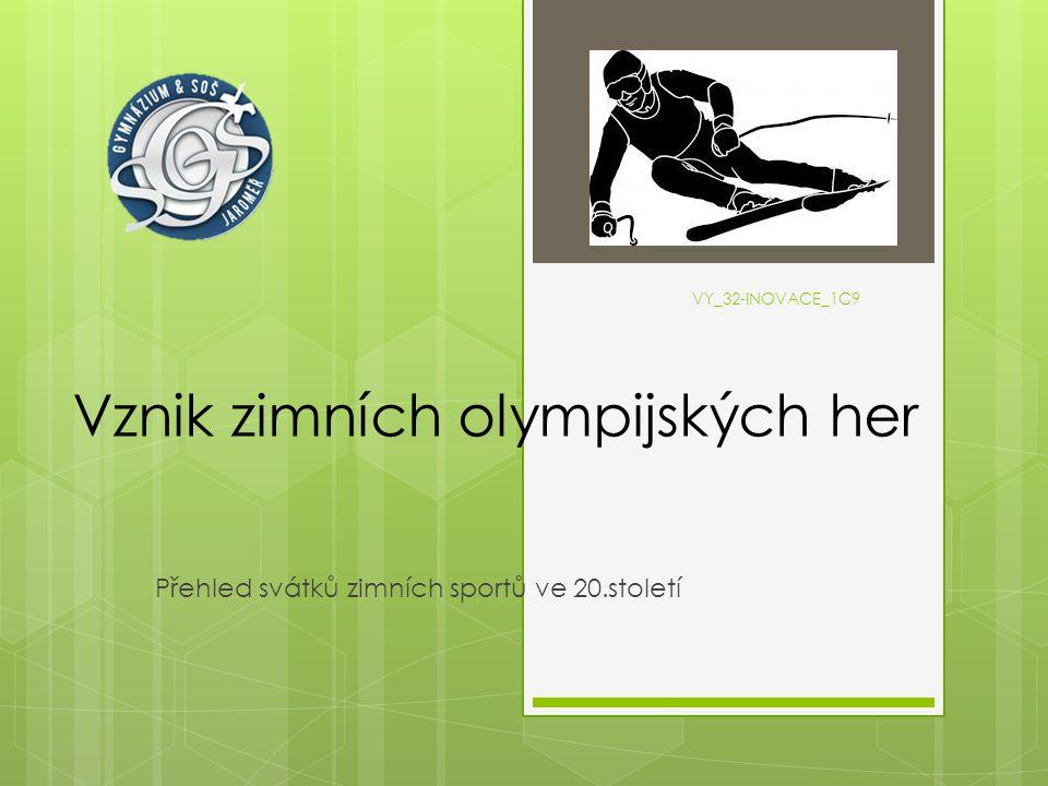 VY_32-INOVACE_1C9 Vznik zimních olympijských her