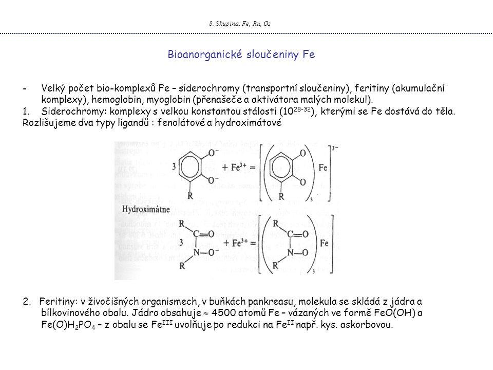 Bioanorganické sloučeniny Fe