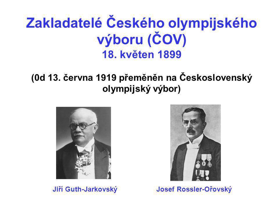 Zakladatelé Českého olympijského výboru (ČOV) 18. květen 1899 (0d 13