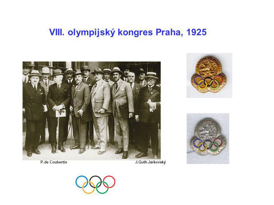 VIII. olympijský kongres Praha, 1925
