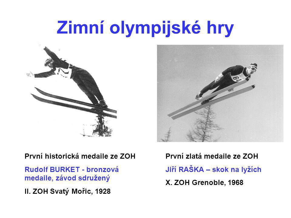 Zimní olympijské hry První historická medaile ze ZOH