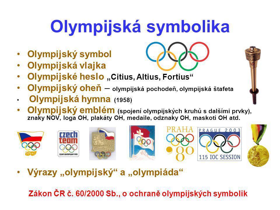Olympijská symbolika Olympijský symbol Olympijská vlajka