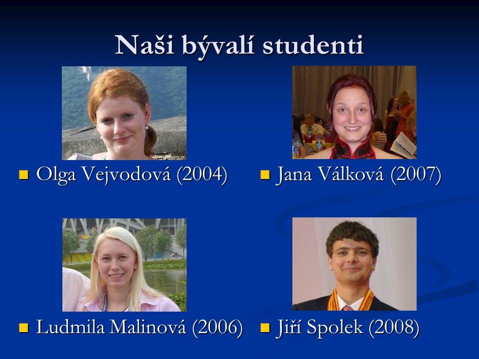 Naši bývalí studenti Olga Vejvodová (2004) Ludmila Malinová (2006)