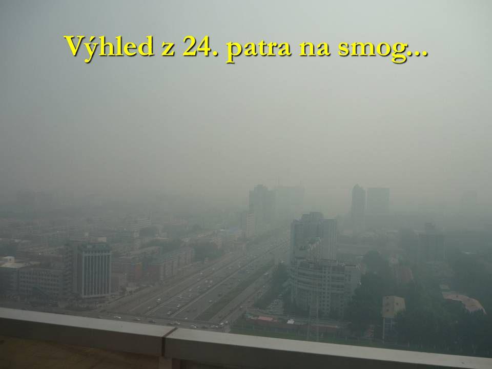 Výhled z 24. patra na smog...