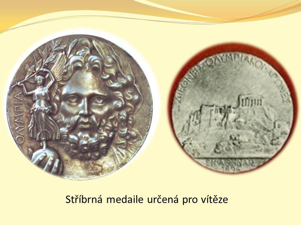 Stříbrná medaile určená pro vítěze