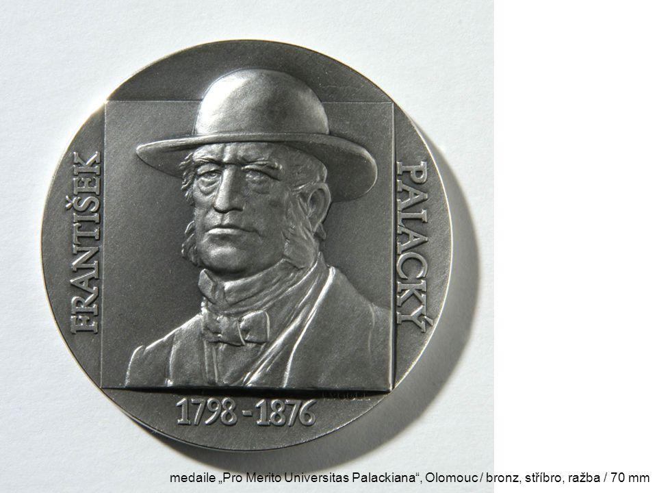 """medaile """"Pro Merito Universitas Palackiana , Olomouc / bronz, stříbro, ražba / 70 mm"""