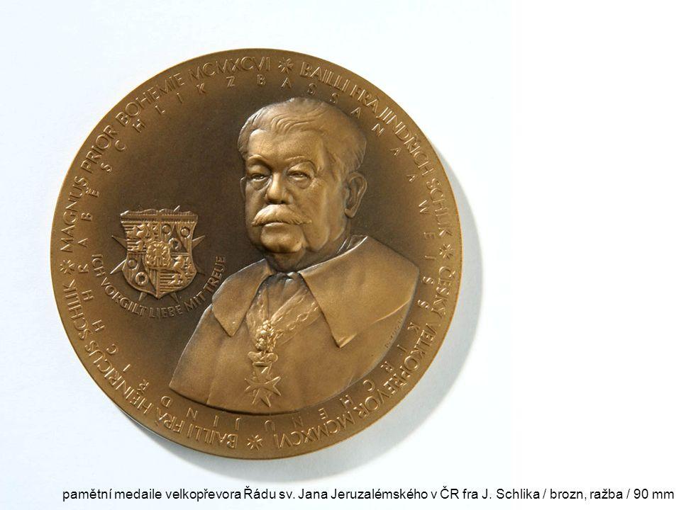 pamětní medaile velkopřevora Řádu sv. Jana Jeruzalémského v ČR fra J
