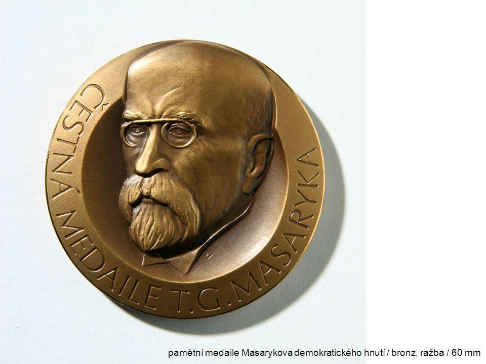 pamětní medaile Masarykova demokratického hnutí / bronz, ražba / 60 mm