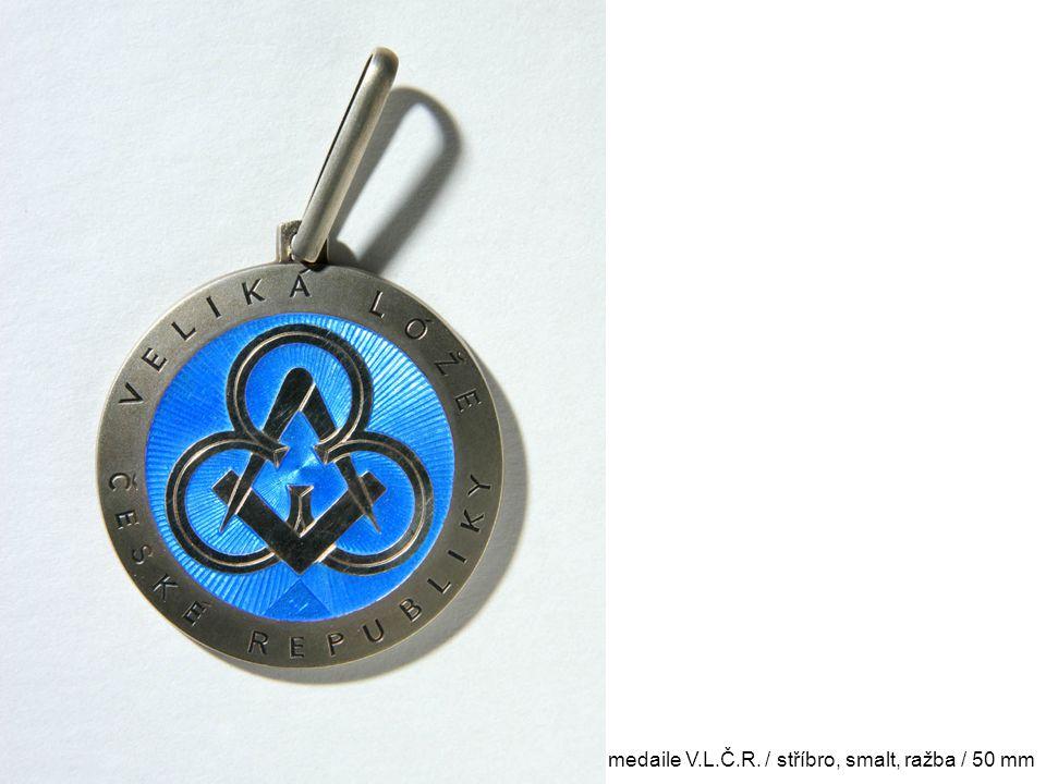 medaile V.L.Č.R. / stříbro, smalt, ražba / 50 mm
