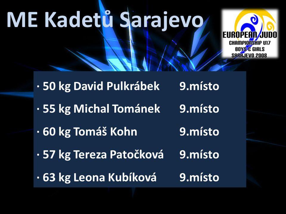 ME Kadetů Sarajevo · 50 kg David Pulkrábek 9.místo
