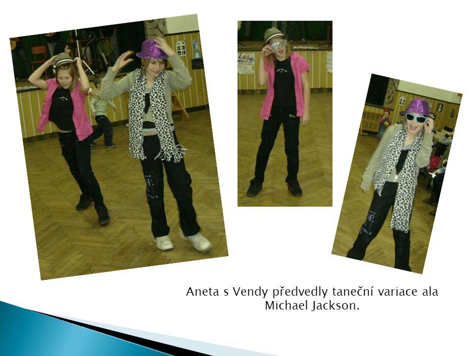 Aneta s Vendy předvedly taneční variace ala Michael Jackson.