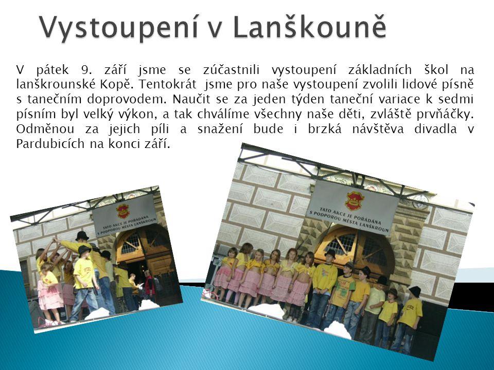 Vystoupení v Lanškouně