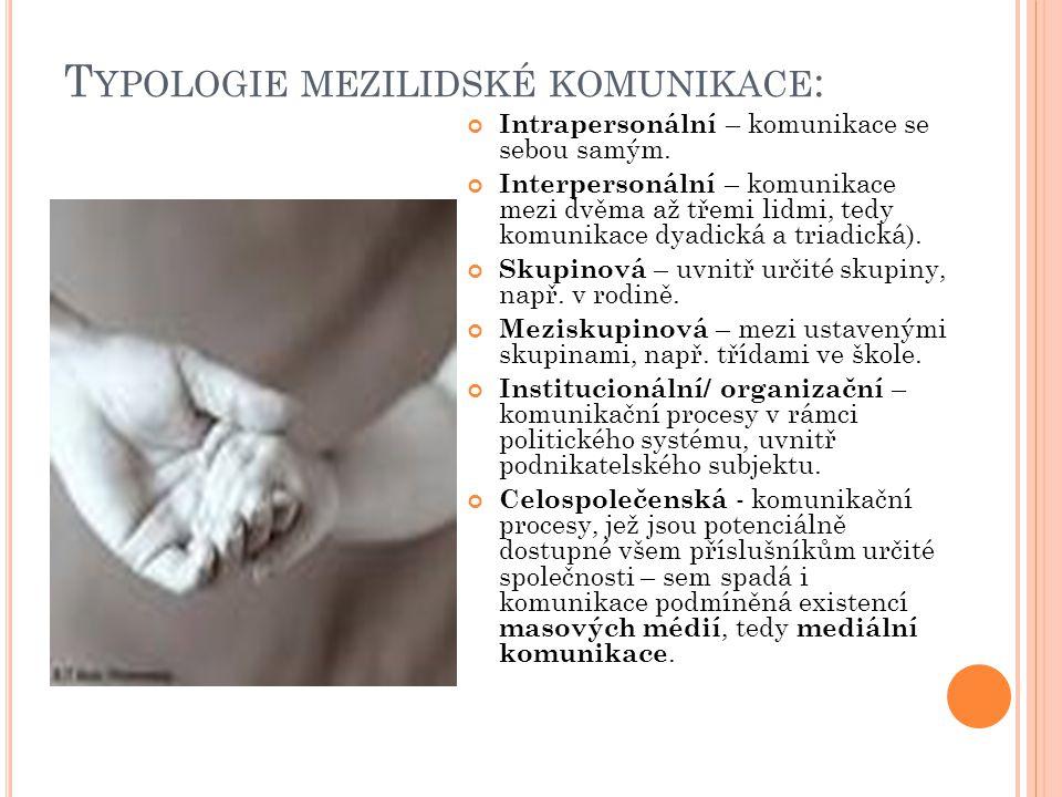 Typologie mezilidské komunikace: