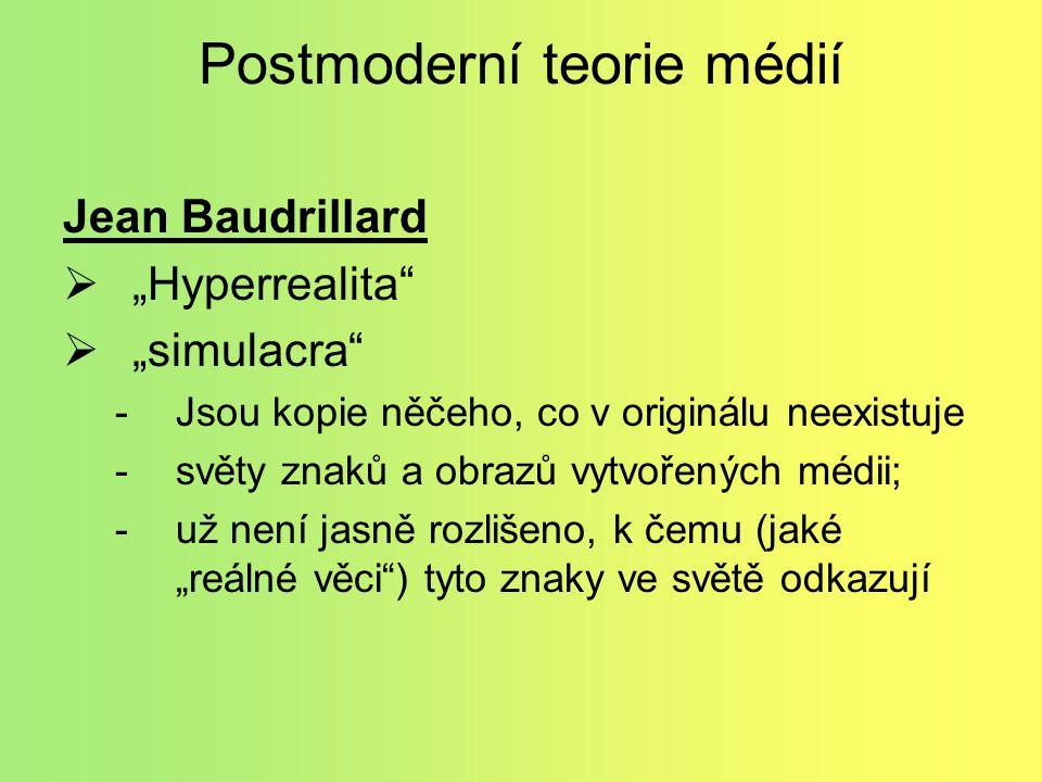 Postmoderní teorie médií