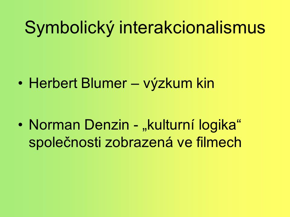 Symbolický interakcionalismus