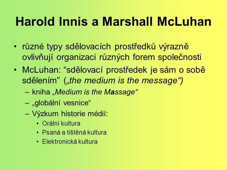 Harold Innis a Marshall McLuhan