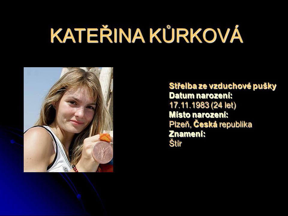 KATEŘINA KŮRKOVÁ Střelba ze vzduchové pušky Datum narození: