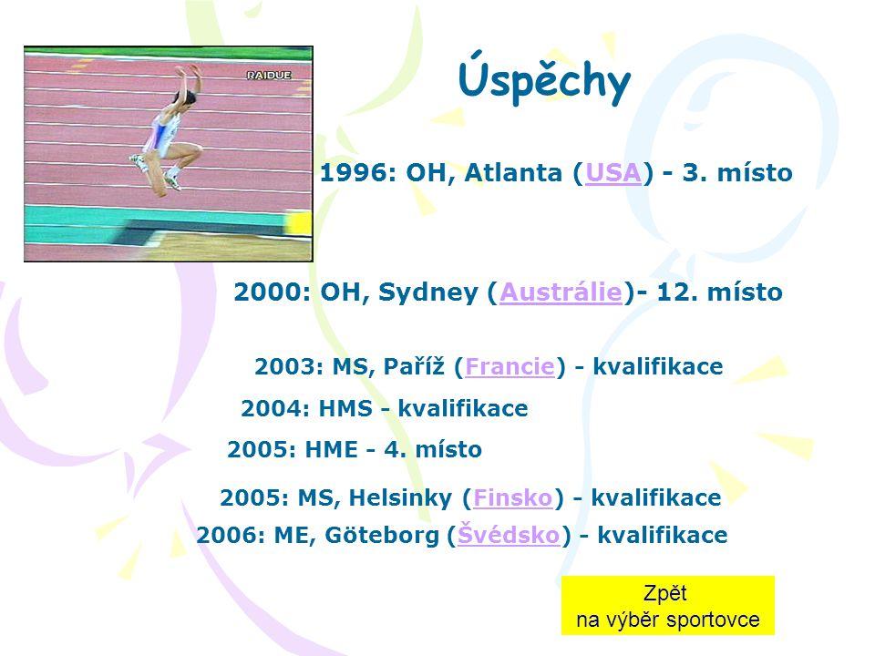 1996: OH, Atlanta (USA) - 3. místo