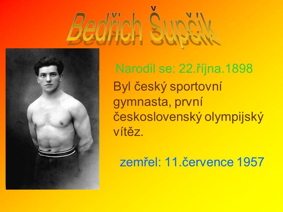 Bedřich Šupčík Narodil se: 22.října.1898