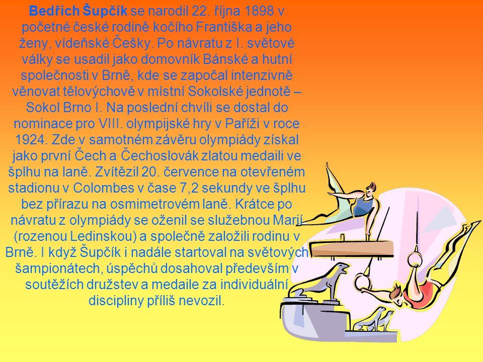 Bedřich Šupčík se narodil 22