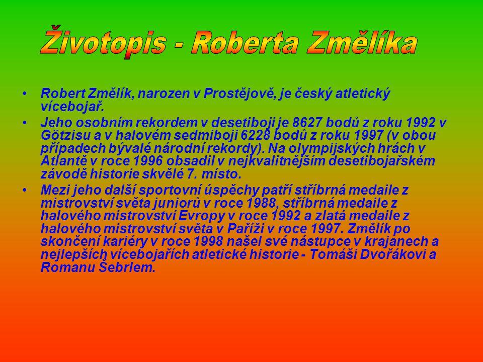 Životopis - Roberta Změlíka