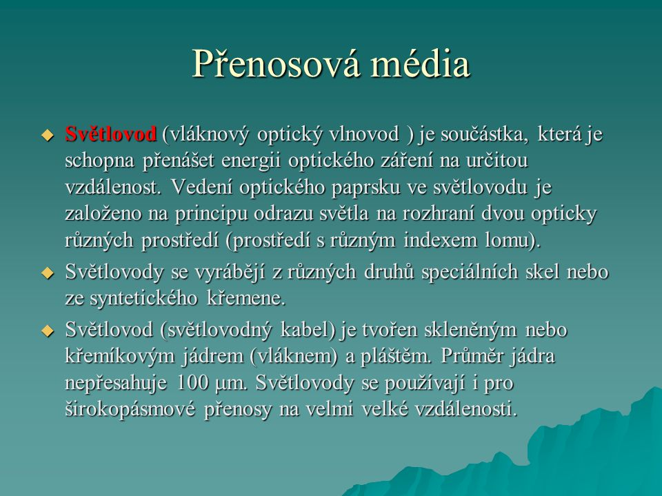 Přenosová média