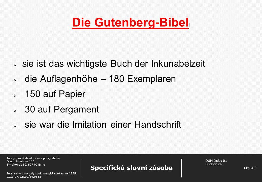 Die Gutenberg-Bibell sie ist das wichtigste Buch der Inkunabelzeit