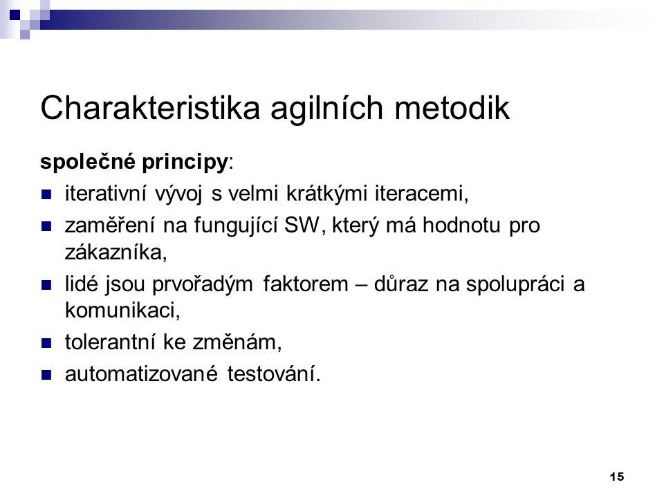 Charakteristika agilních metodik