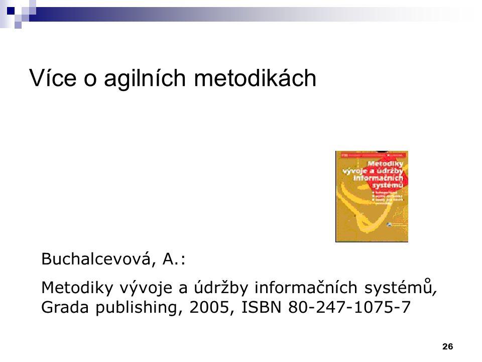 Více o agilních metodikách