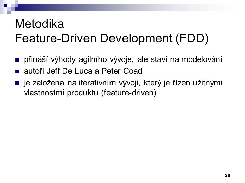 Metodika Feature-Driven Development (FDD)