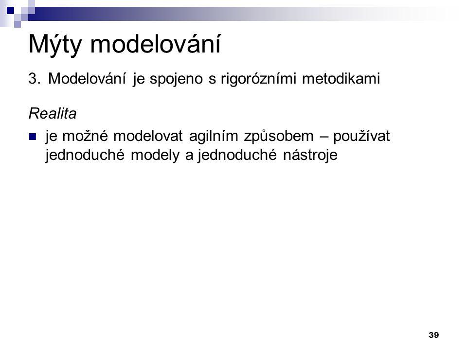 Mýty modelování 3. Modelování je spojeno s rigorózními metodikami