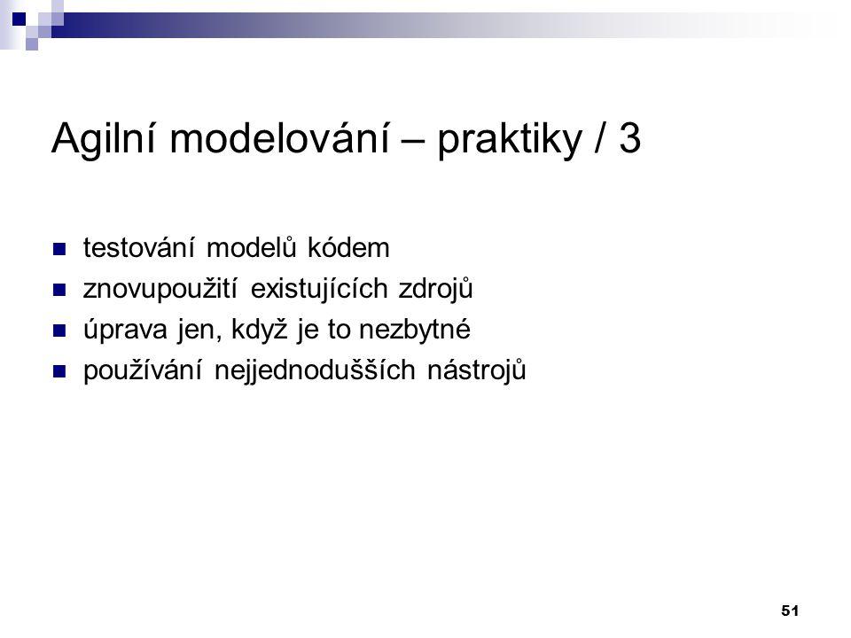 Agilní modelování – praktiky / 3