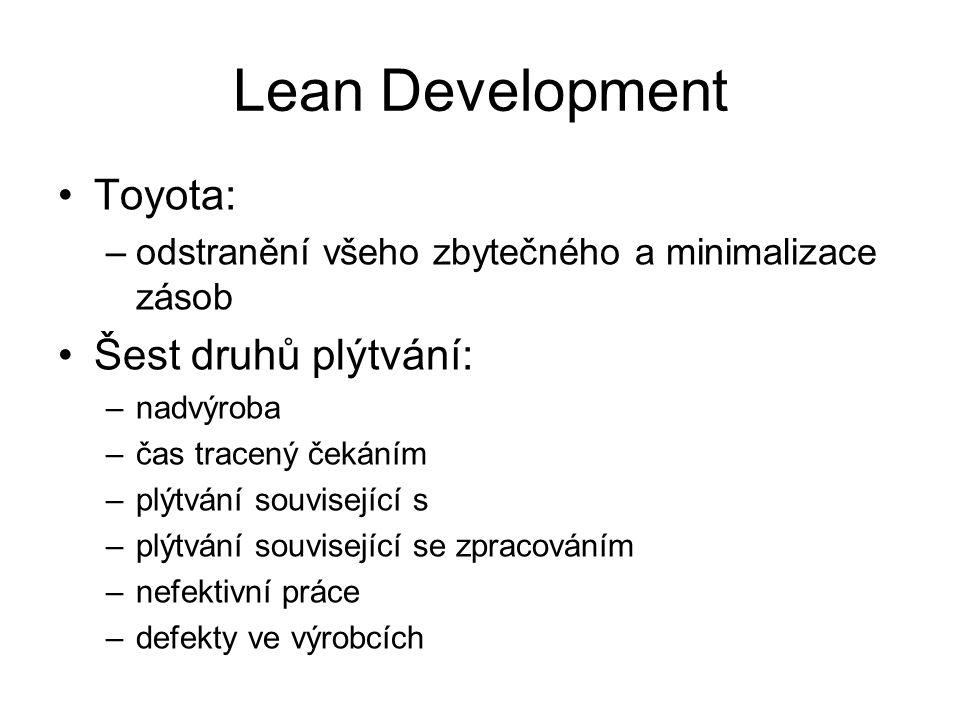 Lean Development Toyota: Šest druhů plýtvání: