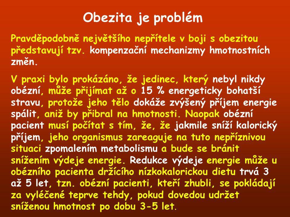 Obezita je problém Pravděpodobně největšího nepřítele v boji s obezitou představují tzv. kompenzační mechanizmy hmotnostních změn.