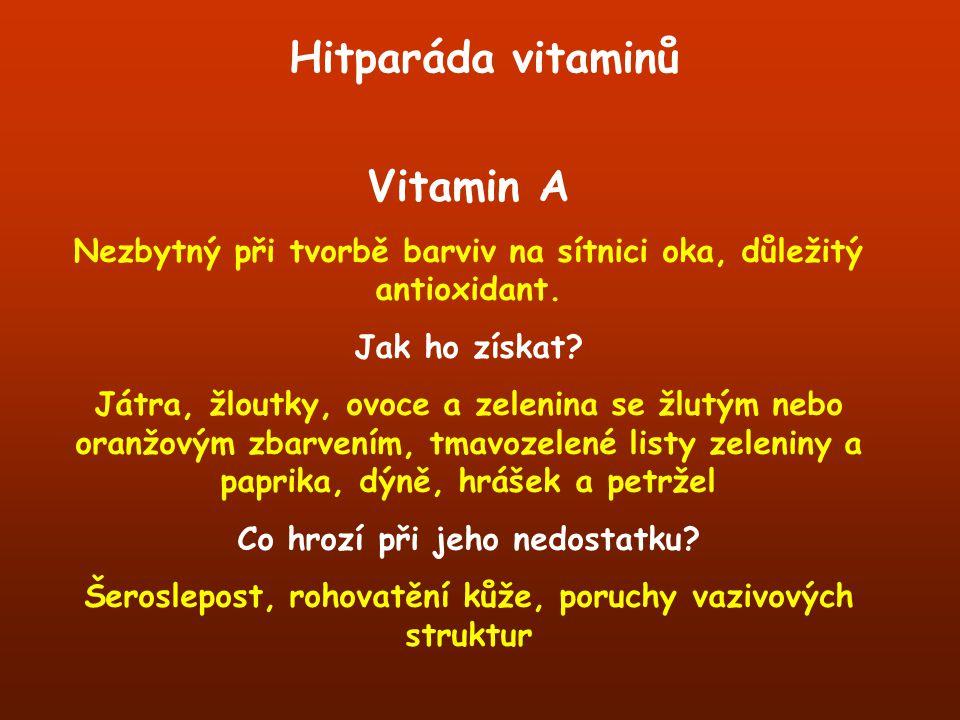 Hitparáda vitaminů Vitamin A
