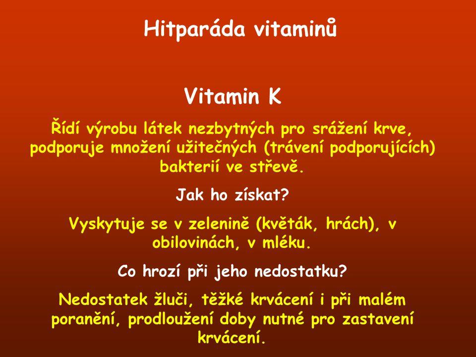Hitparáda vitaminů Vitamin K