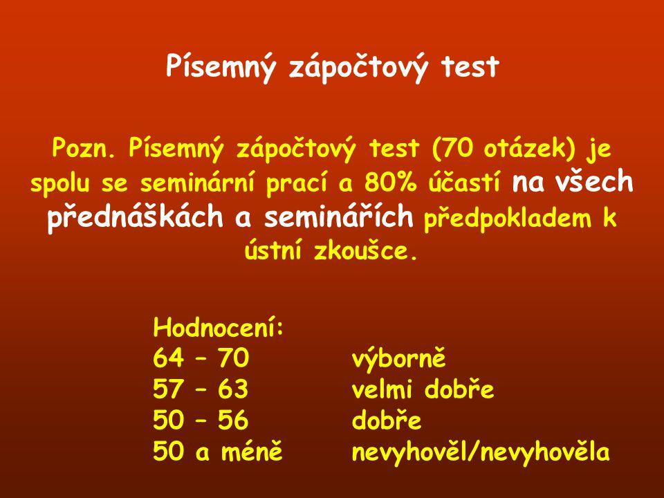 Písemný zápočtový test