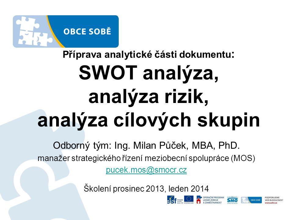 Odborný tým: Ing. Milan Půček, MBA, PhD.