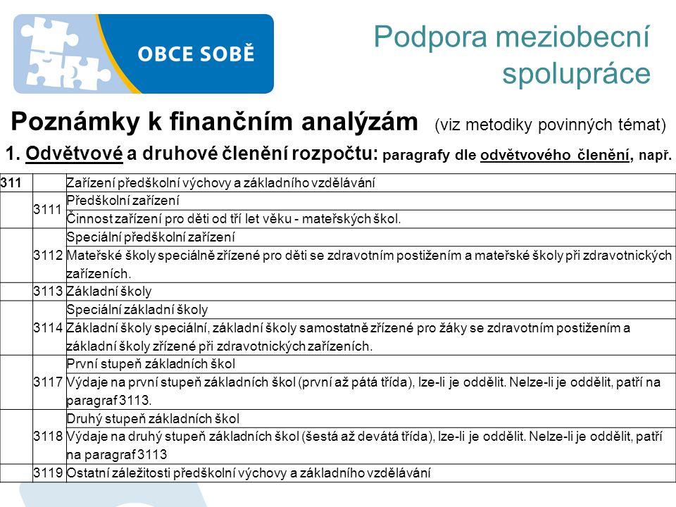 Poznámky k finančním analýzám (viz metodiky povinných témat)