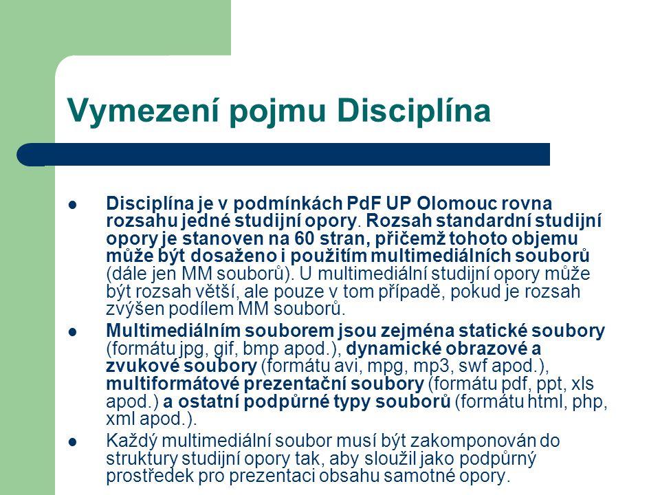 Vymezení pojmu Disciplína