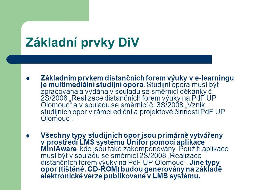 Základní prvky DiV