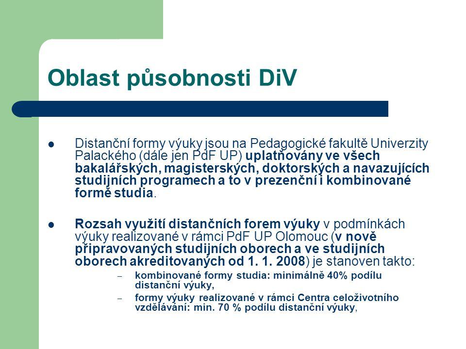 Oblast působnosti DiV