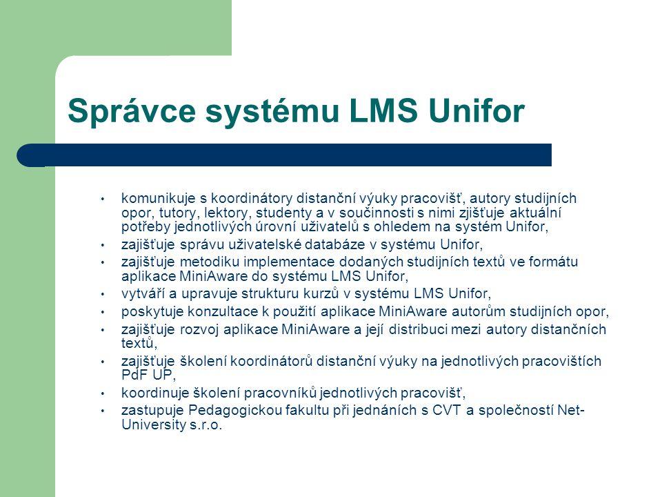 Správce systému LMS Unifor