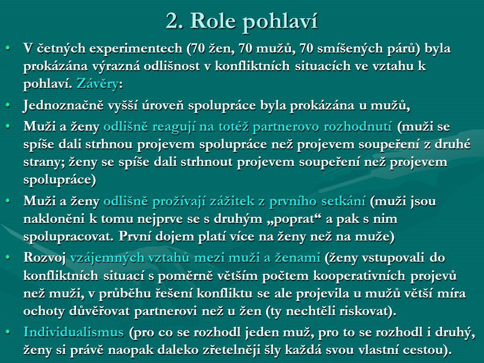 2. Role pohlaví